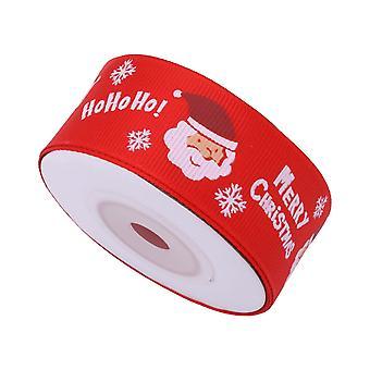 Christmas Ribbons Printed Xmas Tree  - Snowflakes & Santa Claus