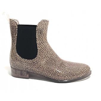נעלי נשים בורבון הביטלס קרסול אתחול ב PVC אופ טבעי D20bo01