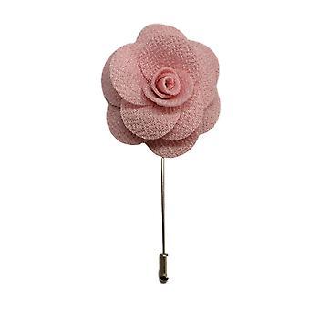 Handgemachte Blume/Rose Anstecknadel | Baby Pink