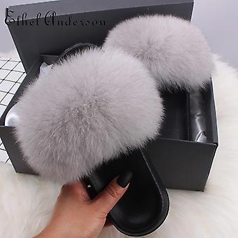 Women Furry Plush Slippers