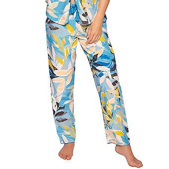 Cyberjammies Phoebe 4811 Women's Blue Floral Modal Pyjama Pant