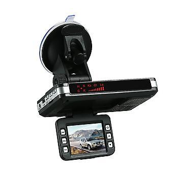 Antirradar detector de carro dvr 2 em 1 720p velocidade da câmera dash com banda completa mute botão loop gravação g-sensor
