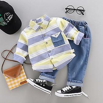 Striped Shirt+jeans 2pcs Set Newborn Baby Clothes