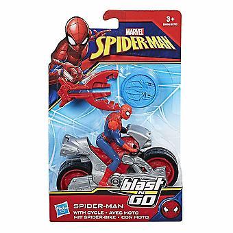 Marvel spiderman spiderman figure explosion de voiture et aller spider-man