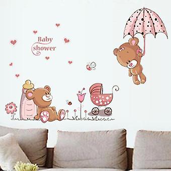 Brown Bears Wall Sticker Room Home Decor