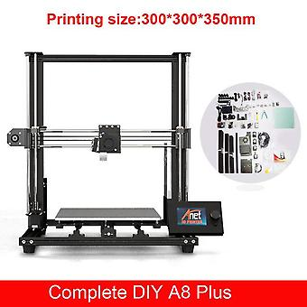 Anet a8 plus 3d printer kit with high precision exturder and hotend reprap with pla 10m filaments 3d drucker