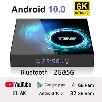 6K smart set-top android high definition 4g ram 2.4g wifi wireless network support 100m lan ethernet tv box media player