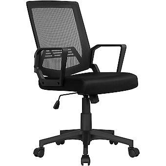 Yaheetech Brostuhl Schreibtischstuhl ergonomischer Drehstuhl Sportsitz mit Netzrcken Chefsessel