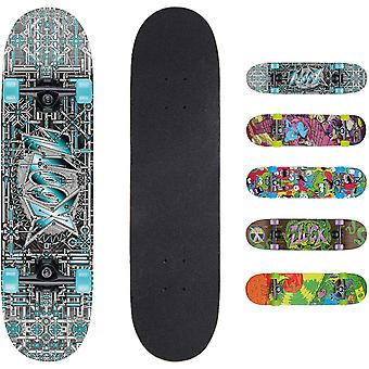 Xootz Barn Komplett Nybegynnere Double Kick Trick Skateboard Maple Deck - 31 x 8 inches Industriell