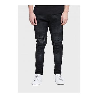 883 Police Moriarty Slim Fit Black Jeans