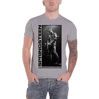 Bruce Springsteen T Shirt Wintergarden Photo Logo new Official Mens Grey