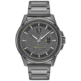 Scuderia Ferrari Men's Grand Tour | Grey IP Steel Bracelet | Grey Dial 0830836 Watch