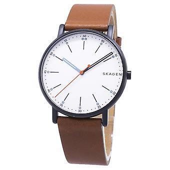 Reloj Skagen reloj cronógrafo de cuarzo de los hombres con cuero SKW6374
