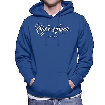 Cafe del Mar Classic White Logo Men's Hooded Sweatshirt
