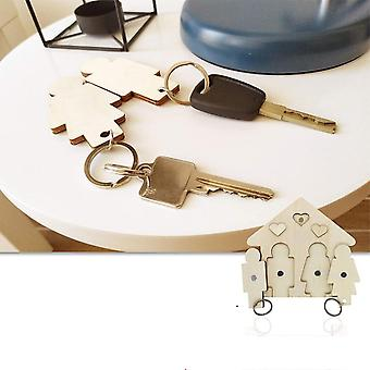 Wooden Key Chain, Couples Keys Ring