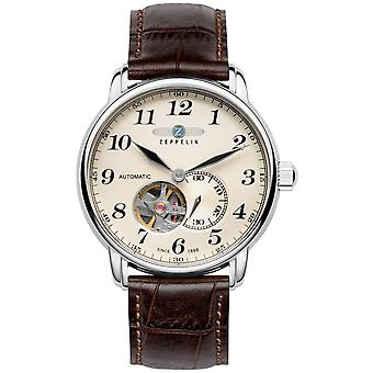 Automatic zeppelin 7666-5 watch watch for Analog Man's Automatic with Cowskin Bracelet 7666-5