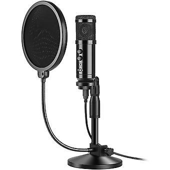 FengChun USB-Mikrofon, Professionelles Mikrofon-Set, 192KHz/24Bit Kondensatormikrofon für Podcast,