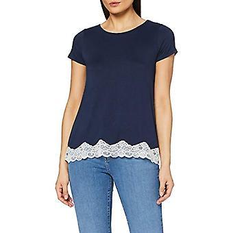 United Colors of Benetton 3U113M314 T-shirt, Blue (Dark Blue 13c), XS Woman