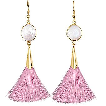 KYEYGWO - Women's earrings with tassel, bohemian style, with thread, with crystals and drop tree and Alloy, color: Ref earrings. 0715444084522