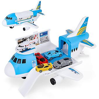 FengChun Transport Cargo Airplane Car Toy Play Set for 3+ Years Old Boys and Girls-Comes with 4