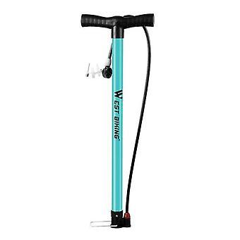 自転車フロアポンプ 140PSI自転車エアポンププレスタ&シュレーダーバルブタイヤチューブインフレータ多機能ボールニードルバイクタイヤポンプサイクリング空気インフレータ