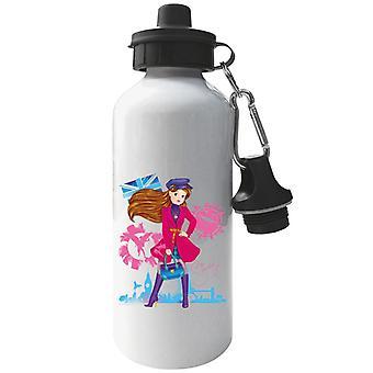 Sindy In London Aluminium Sports Water Bottle