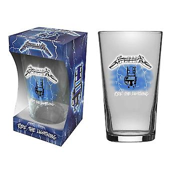 Metallica Beer Glass Ride The Lightning Album Band Logo new Official Boxed