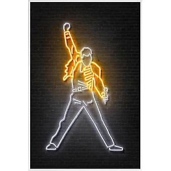 JUNIQE Print -  Mercury - Rock Poster in Gelb & Schwarz