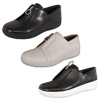 Fitflop Mujer F-Sporty II Zip Zapatos de cuero sneaker