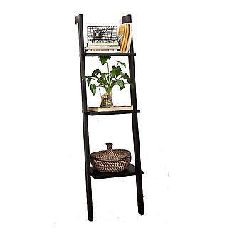 SoBuy madera 3 niveles almacenamiento pantalla pared estante, FRG32-SCH, negro