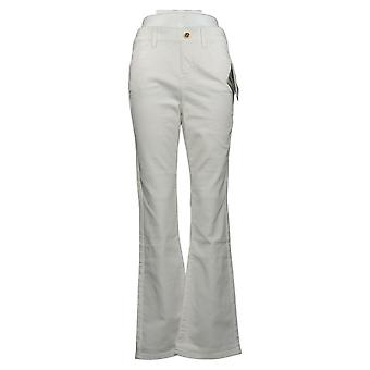 IMAN Global Chic Women's Jeans Illusion Denim Pull-On Bootcut White 734928
