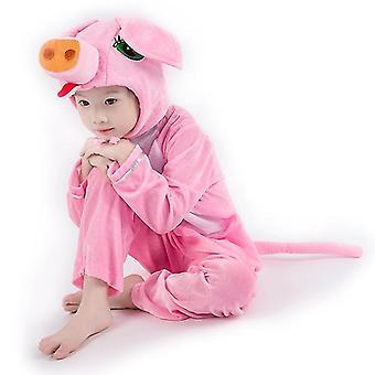 M (120cm) rosa Schwein Cosplay Anzug Kostüm Bühne Kleidung Urlaub Kleidung cai572