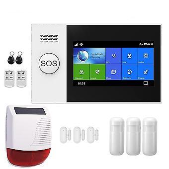 Wifi 3g -hälytysjärjestelmä kodin turvallisuudelle Pir Wireless Solar Siren -tuella