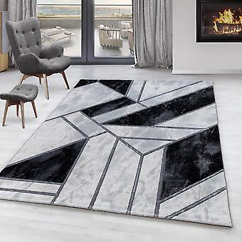 Living room carpet OXIA short pile design marble pattern abstract lines