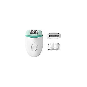 Sähköinen hiustenpoistoaine Philips Bre245 15v valkoinen vihreä