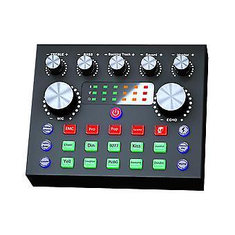 Live sound card trasmissione streaming gift music registrazione giochi in tempo reale calibrarion più effetti voice changer mixer board