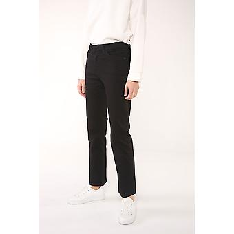 High Waist Pegged 5-pocket Jeans