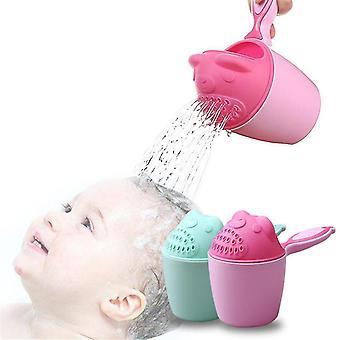 Baby Shower Spoons Baby Bath Waterfall Rinser Kids Shampoo Rinse Cup Bath Shower Shampoo Cup(#01
