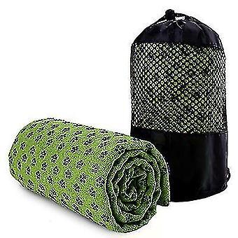 Sport Non-Slip Yoga Mat Cover Towel Blanket Fitness Exercise Pilates Workout(Green)
