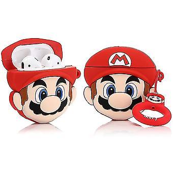 Custodia in silicone compatibile con Airpods 1&2 (Super Mario)(Super Mario)