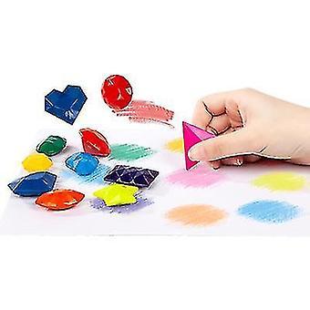 9-farve børns farveblyant diamant modellering studerende farve maleri farveblyant sæt studerende kunst sikkert og