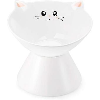 קערות חתול מוגבהות קרמיקה, מזון או מים מוגבהים, ללא מתח(Style2)