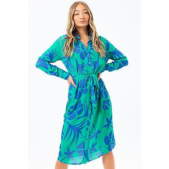 Hype Dames/Dames Leaf Shirt Jurk