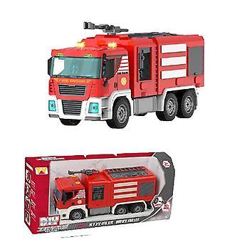 Children's manual detachable fire truck