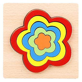 Hot baby geometry cognitive toys kindergarten montessori early educational toy kids 3d wooden puzzle learning toys for children