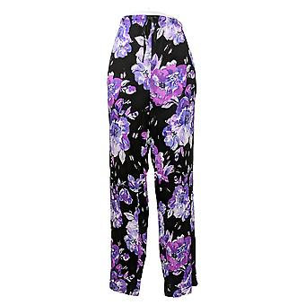 Aria Women's Jersey Floral Print Pajama Pants Black 637146