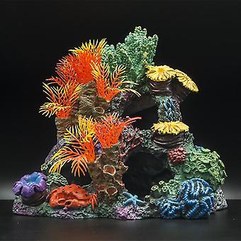 Aquarium Decoration FishTank Landscaping Artificial Coral Reef Ornaments Fish Shelter Aquascape