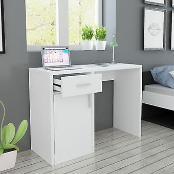 Työpöytä Lipastolla ja Kaapilla Valkoinen 100x40x73 cm
