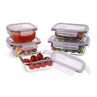 Set of 5 lunch boxes Quid Frost Crystal