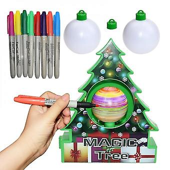 Caraele Christmas Tree Ornament Decorating Kit Kids Painted Ball Craft Activity Game Diy Toy